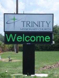 Custom digital monument sign